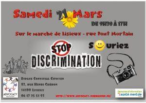 STOP Discrimination – Les adhérents proposeront des animations sur le marché le 21 mars 2020